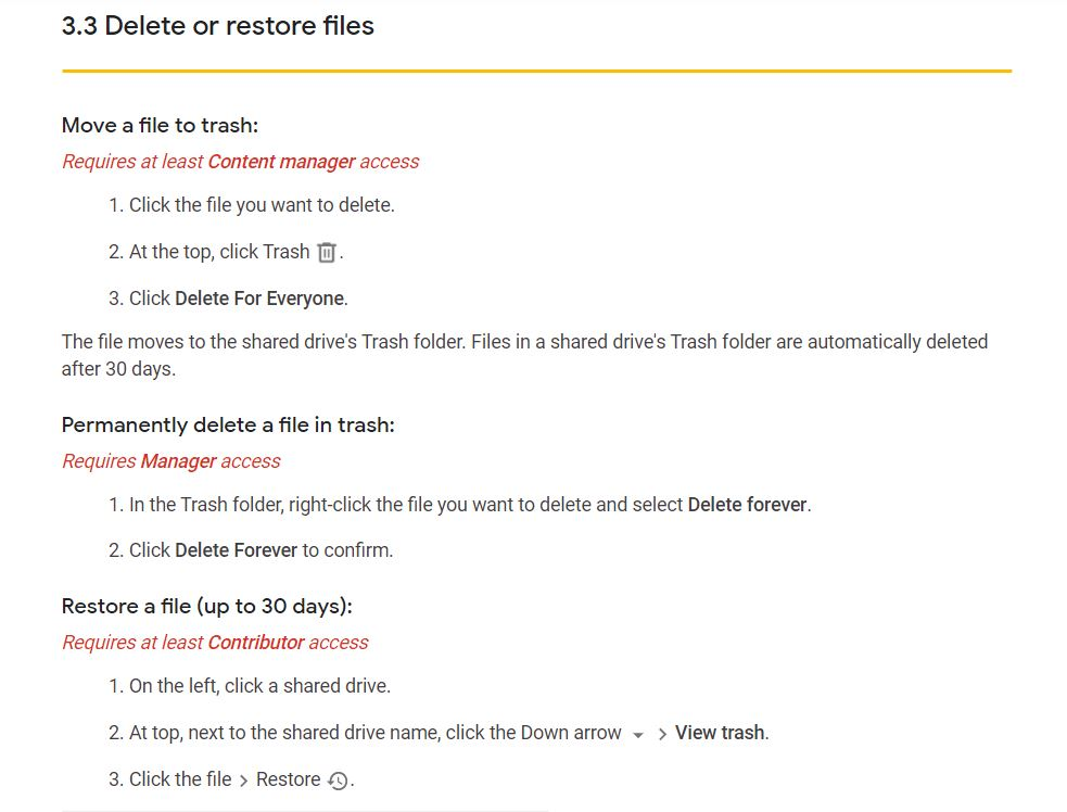 Google Drive File Recovery