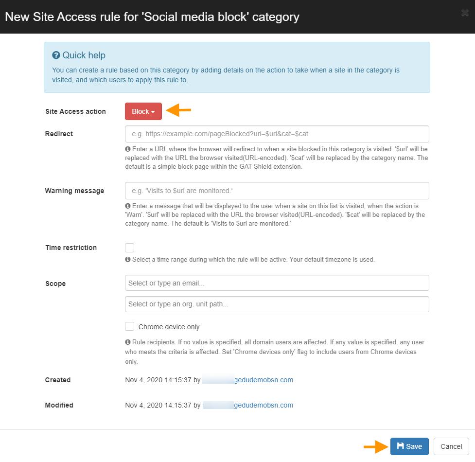 GAT Shield: Automatically Block URL Sites | Site Control 4