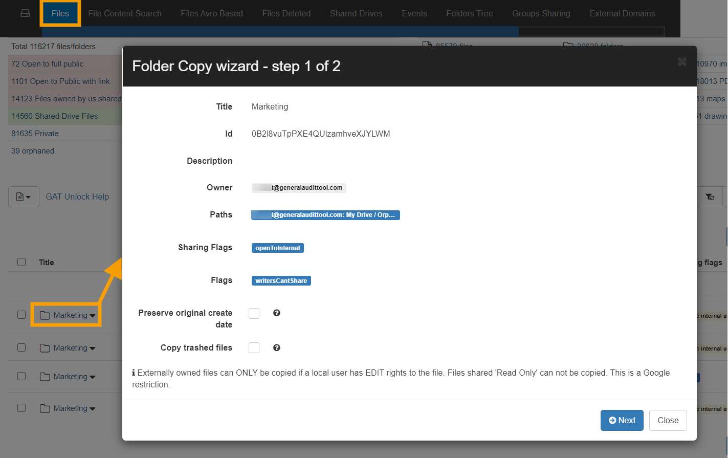 GAT Unlock | Copy Externally Owned Folders and its Content to Your Google Drive (while retaining folders' structure) 3