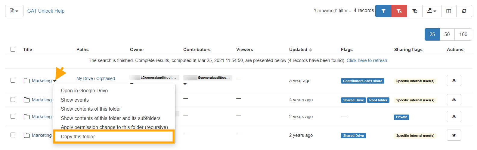 GAT Unlock | Copy Externally Owned Folders and its Content to Your Google Drive (while retaining folders' structure) 2