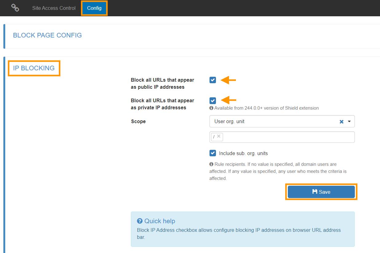 GAT Shield | Block Websites that Appear as IP Addresses 2