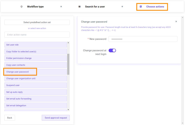 GAT Flow | Change user passwords in bulk 7