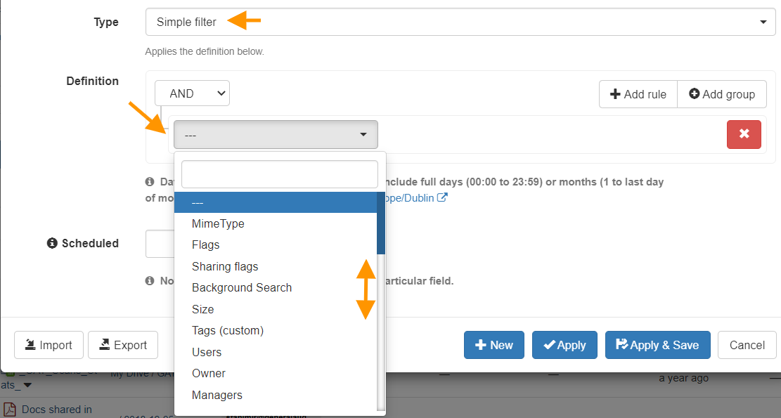 GAT+   Apply a Search Filter in Google Drive Audit 5