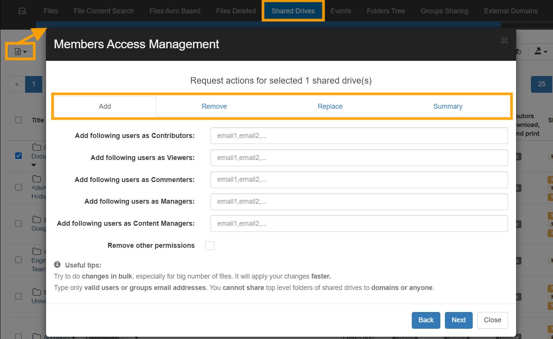 GAT+ | Google Shared Drives Management 2