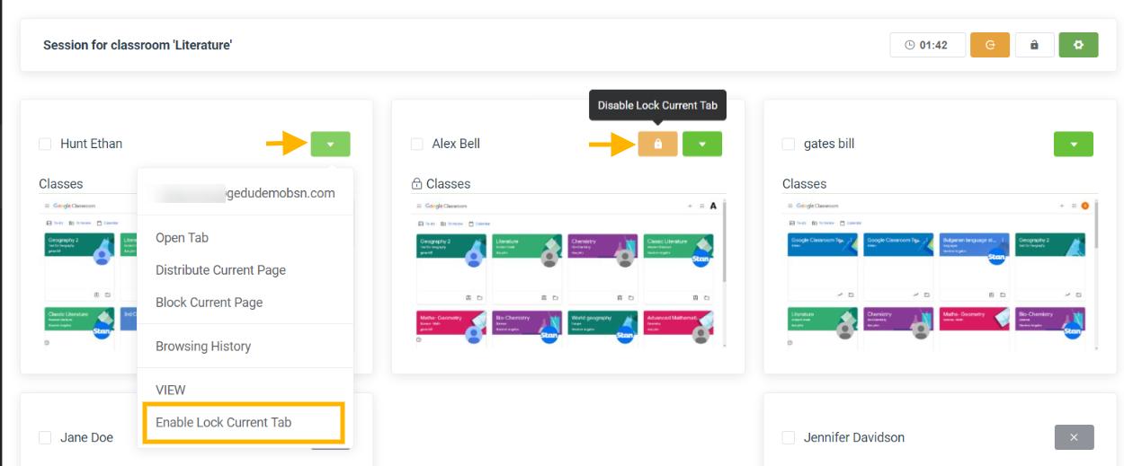Teacher Assist | Set Lock Tab in Google Classroom Session 3