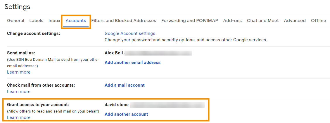 GAT Unlock | Delegate a User to Access Another User's Gmail Account 5