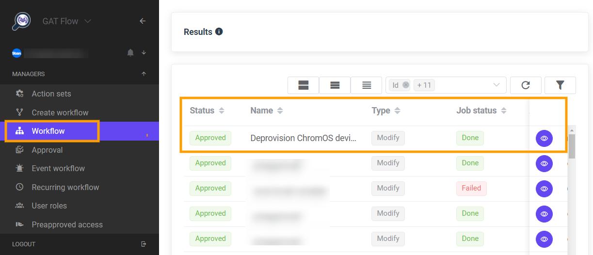 GAT Flow | Bulk deprovision of ChromeOS (Chromebooks) 6